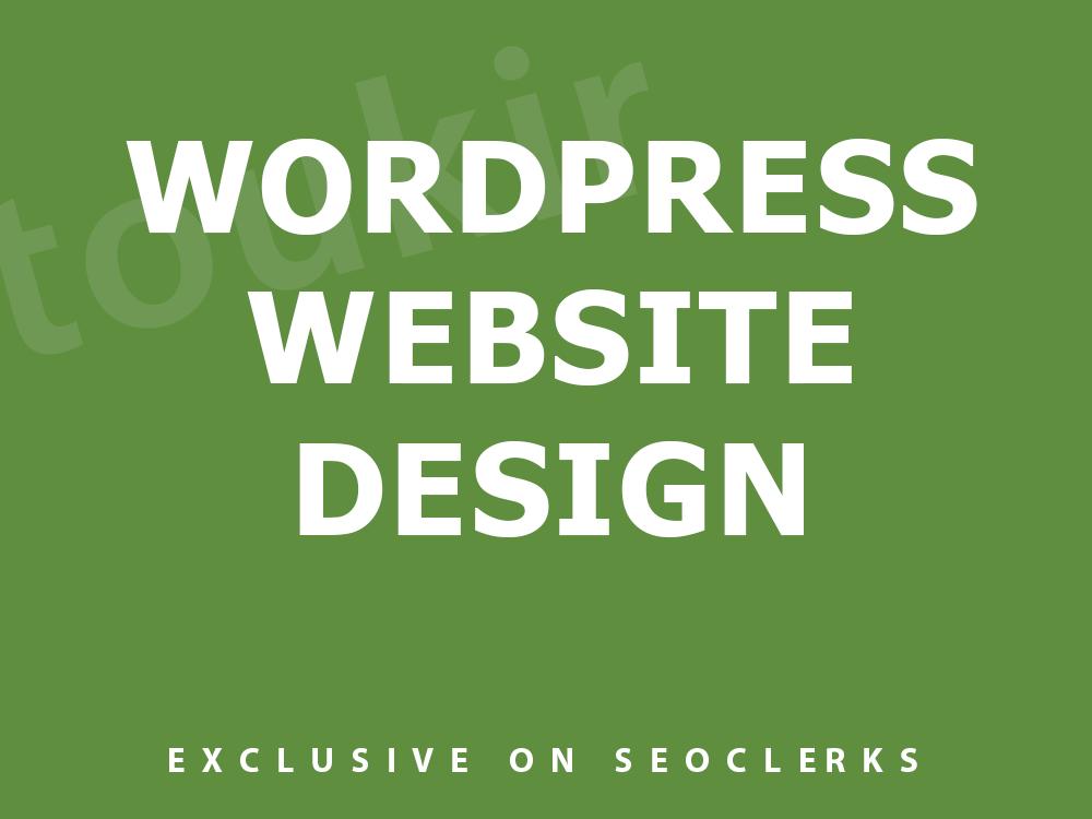 I will do pro responsive wordpress website design
