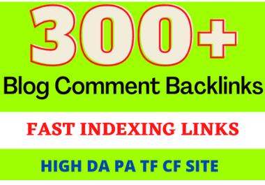 I will do 300 manual do follow blog comment backlinks high DA PA TF CF