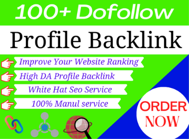 I will create 100 high authority profile backlinks for white hat SEO