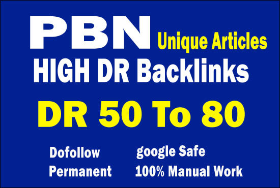 give permanent homepage DR 50 to 80 plus backlinks