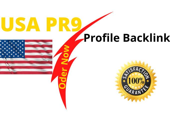 create 100 USA pr9 profiles backlinks