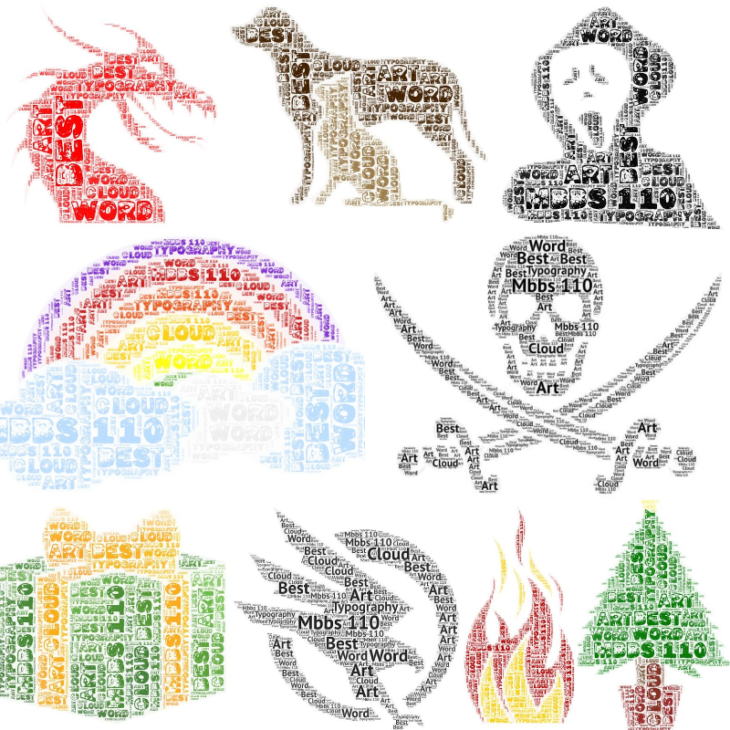 I will create amazing word cloud art and typography