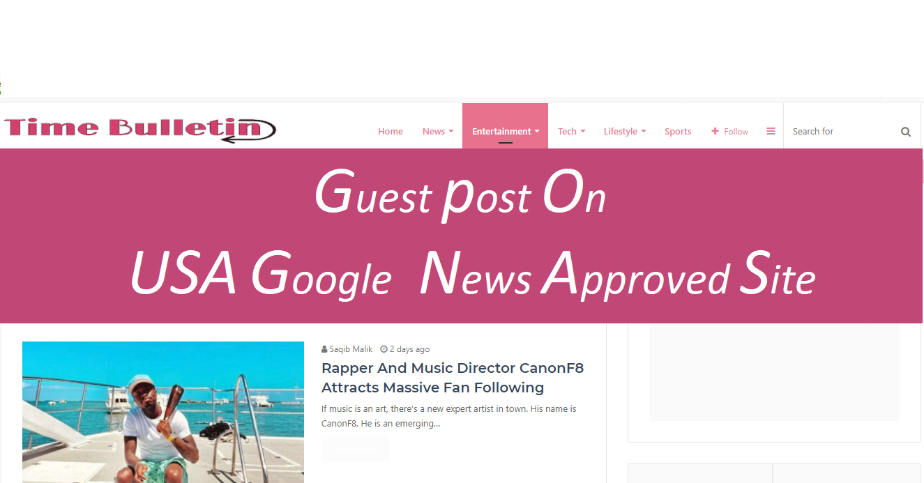Publish your Article Google news approved site Timebulletin. com