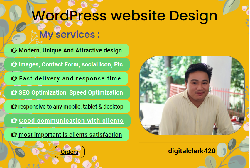 I will create modern WordPress website design