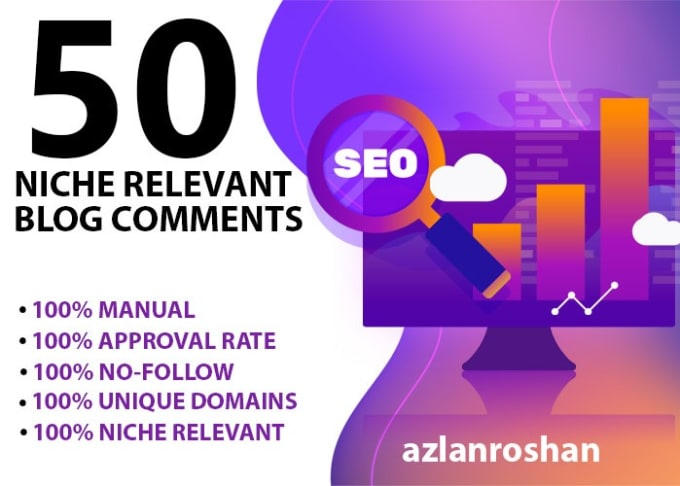 Get 50 High Quality Niche Relevant Blog comments Backlinks