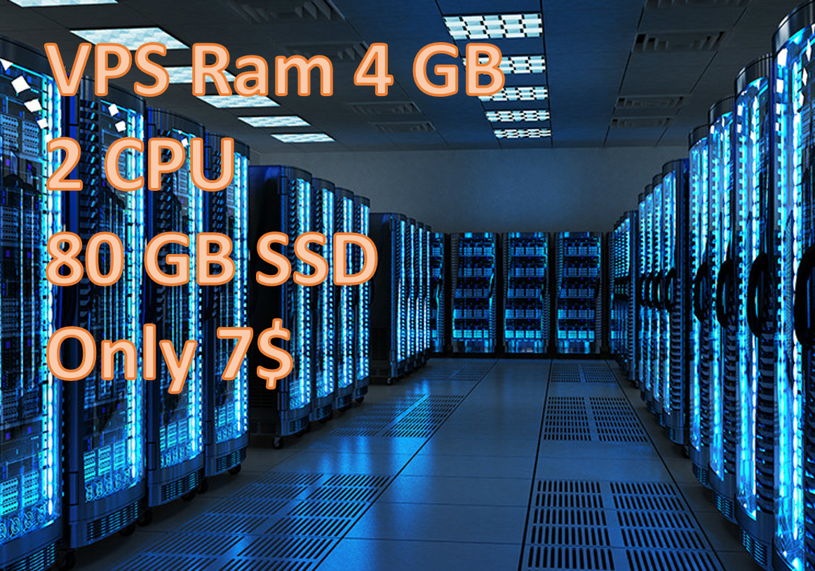 Provide VPS RAM 4GB CPU 2 CORE