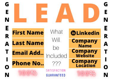 I will give you B2B valid leads