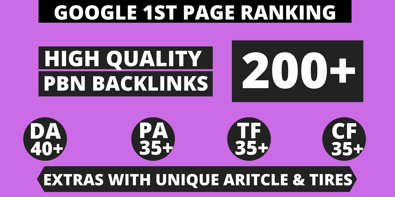 200 PBN Homepage Do-Follow DA 40+ Permanent Post Web2.0