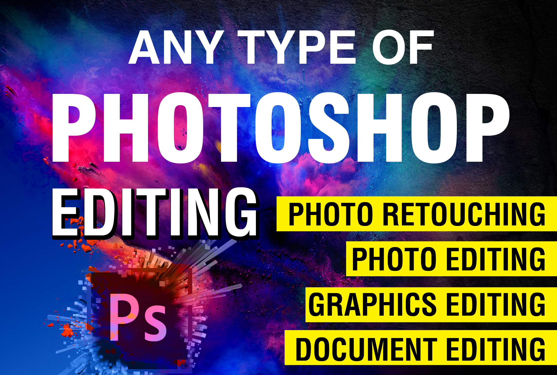 I will do image editing and retouching in with premium quality