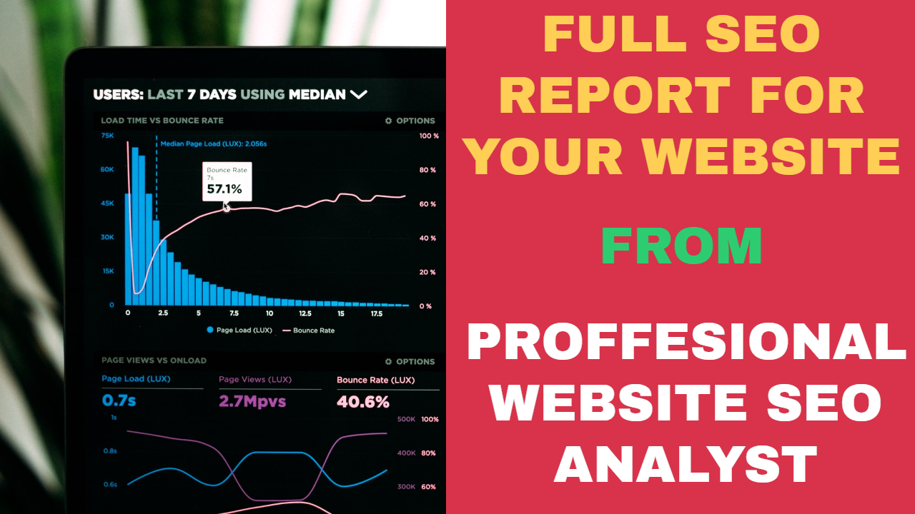 I Will give a full seo analyze report for your website