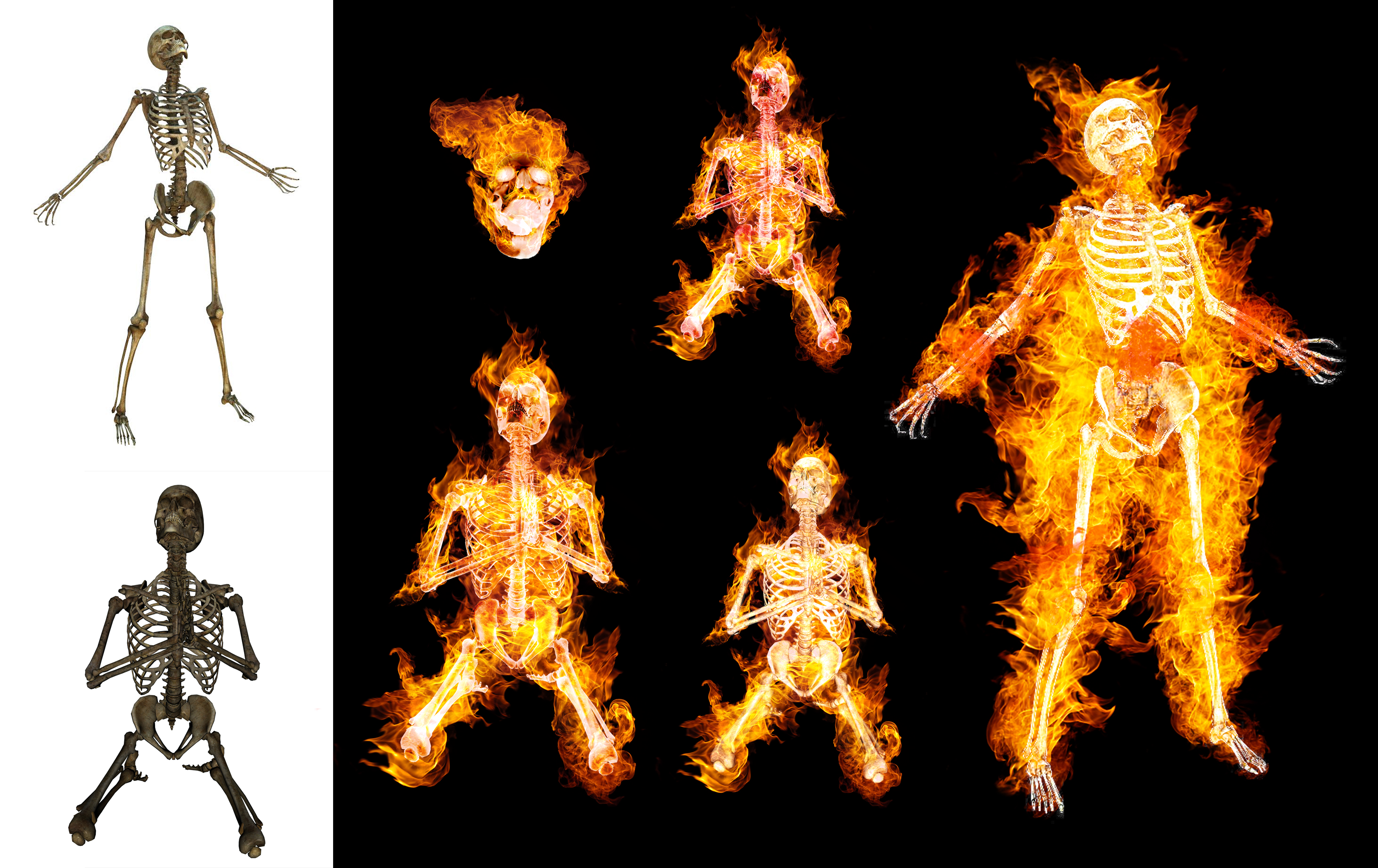 I will add a fire flame effect for your photo