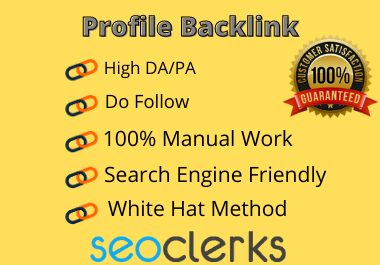 I will build 100 profile backlinks manually on high da link building
