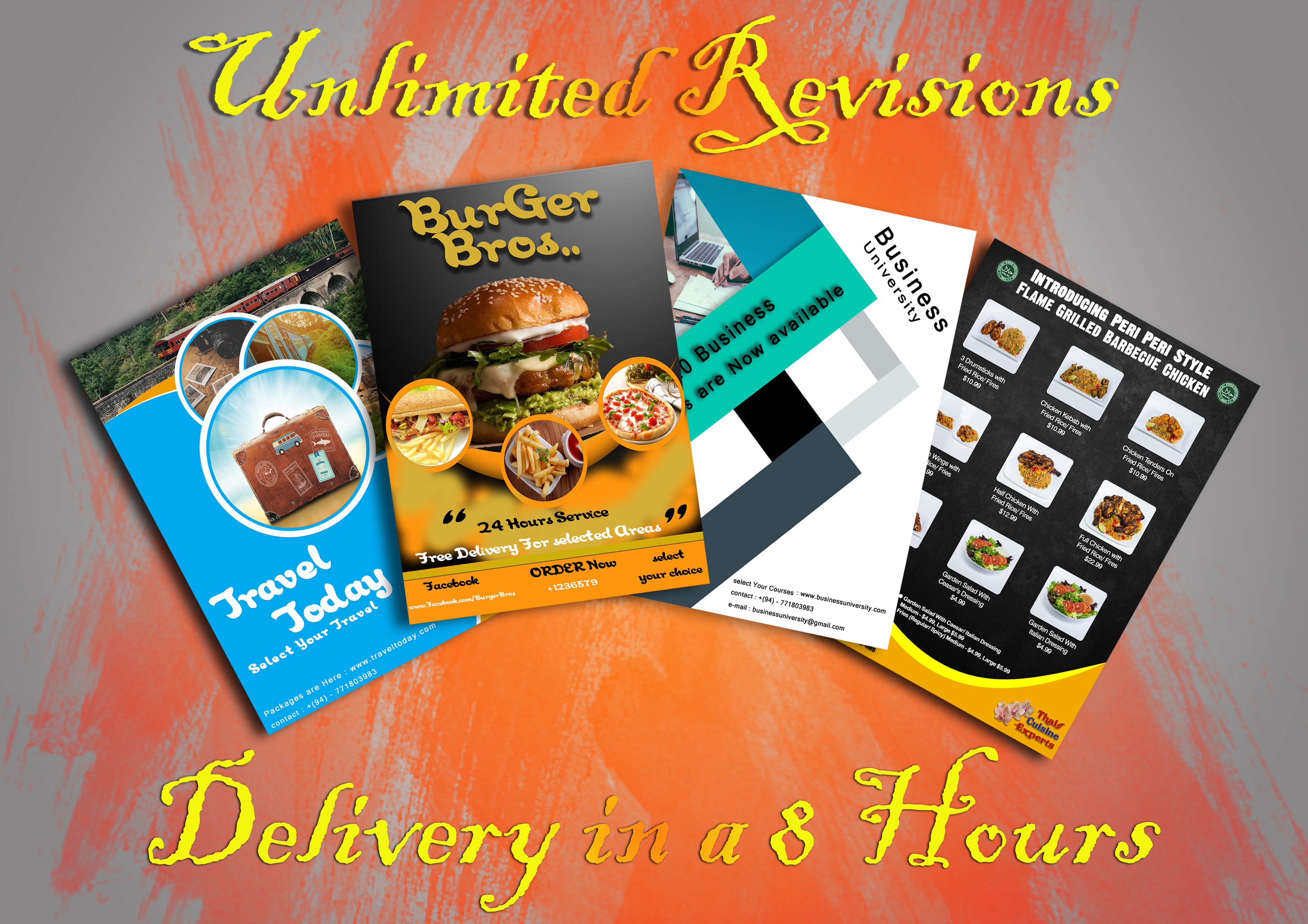 I will do creative flyer design and tri fold brochure