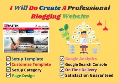 I will do create a professional blogger website