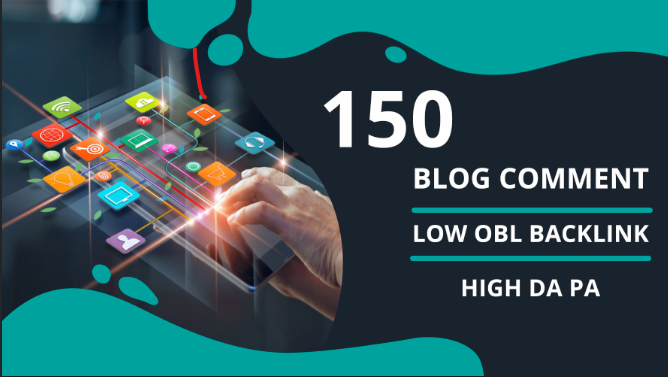 I will do manually 150 dofollow blog comment backlinks with low obl