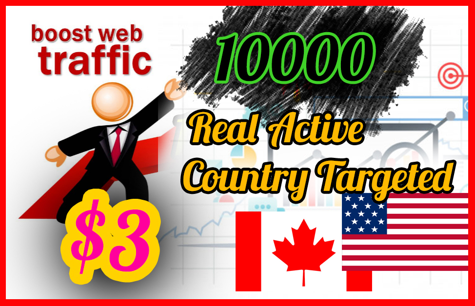 100,00 Real Active Targeted Country Website Traffic For 10 Days Quikly