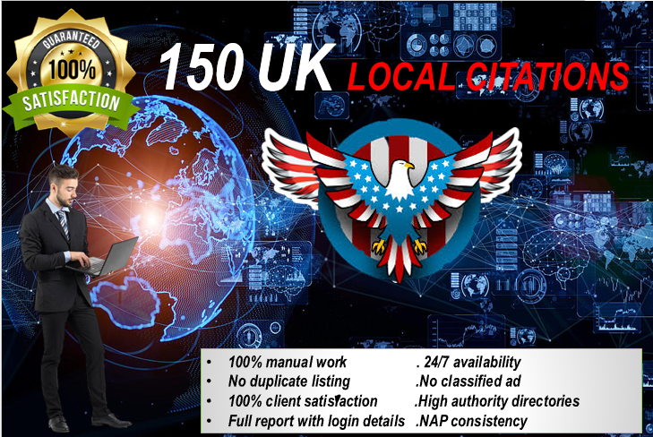 Boost Local Business Rankings with 150 High Authority Local Citations and Directory Submissions