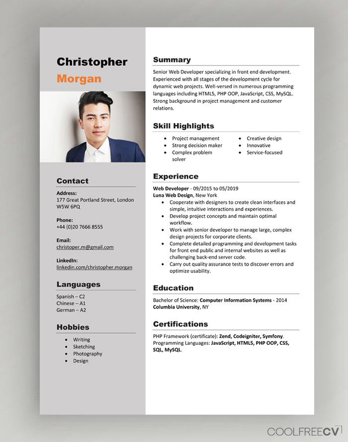 I will do resume design of different design or CV maker