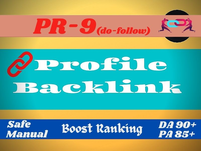 I will do pr9 profile backlinks to get 1st page