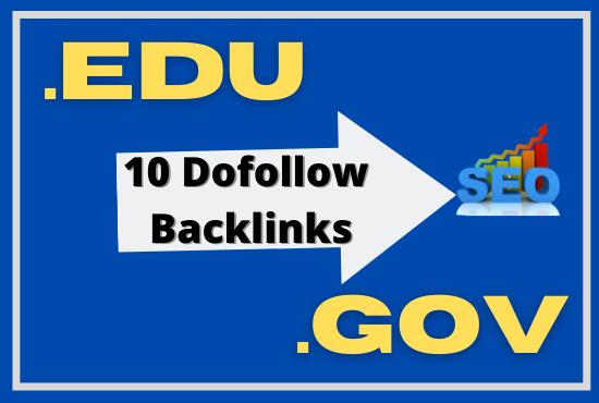 Unique 10 Manually Dofollow Most Effective Edu/Gov Backlinks