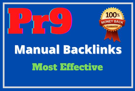 Manually 40 pr9 High Authority Backlinks