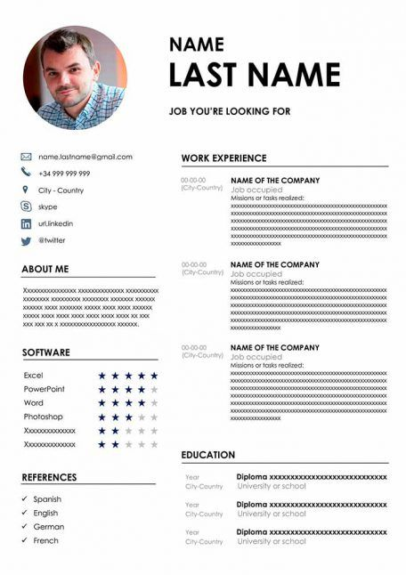 I will make a professional cv in English , Russian and Arabic