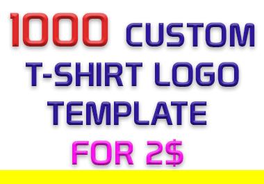 High Quality 1000 Custom PNG Format T-Shirt Logo Design