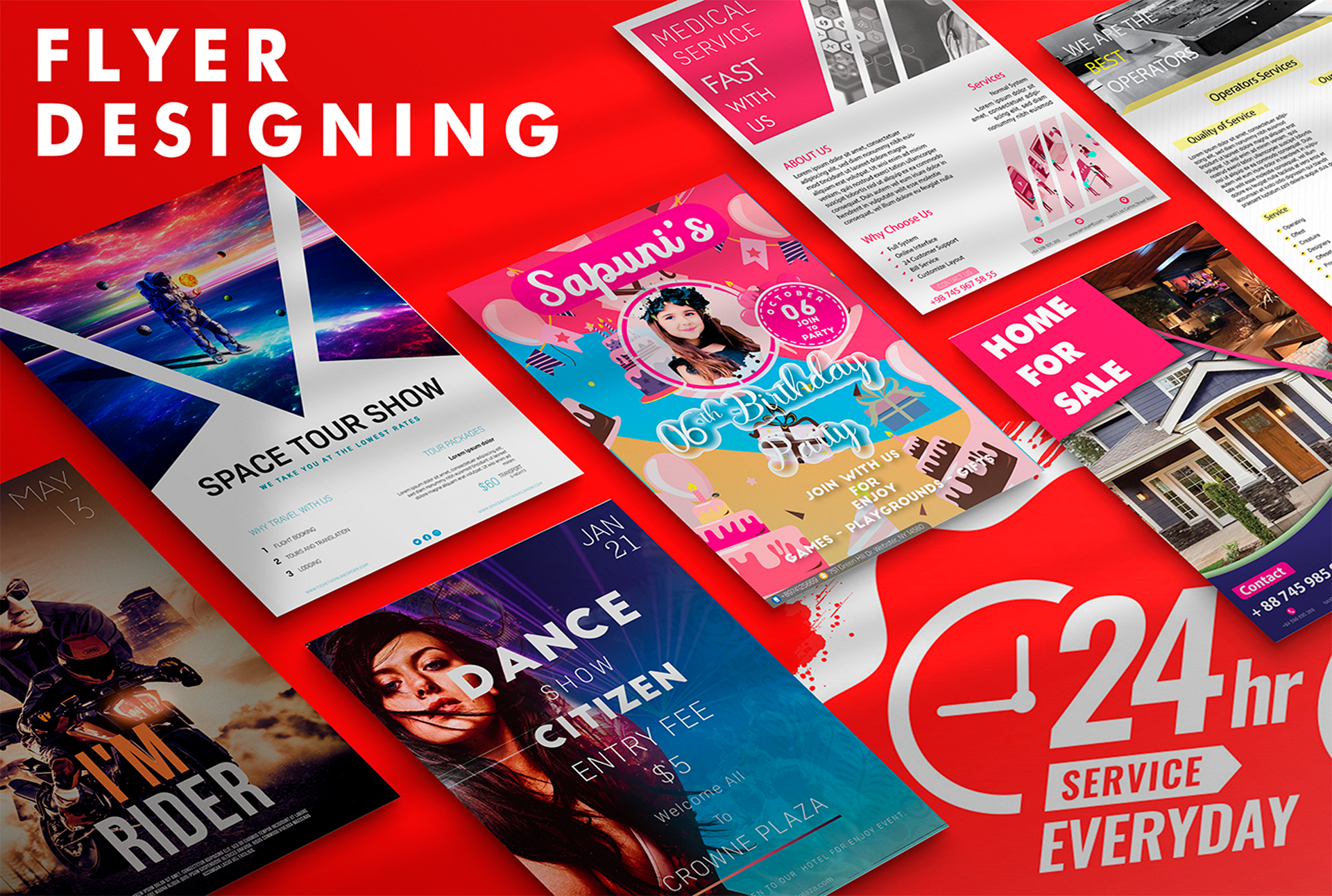 I will Design Clean, Attractive Flyers and posters etc