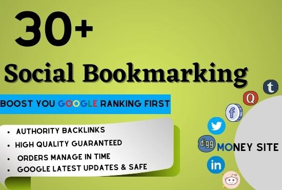 50 Social Bookmarking SEO Backlinks on Dofollow High DA Sites
