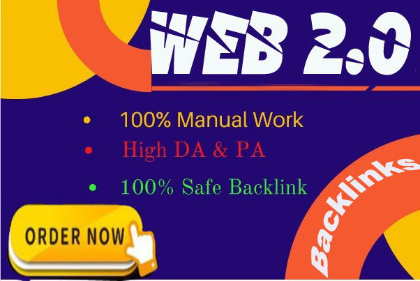 50 Manual Web 2.0 Backlinks Dofollow High Quality Permanent Link Building