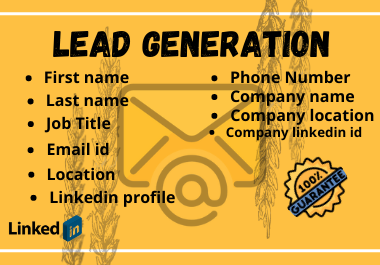 I will do perfect lead generation for your business