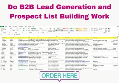 I will do B2C,  B2B LinkedIn lead generation