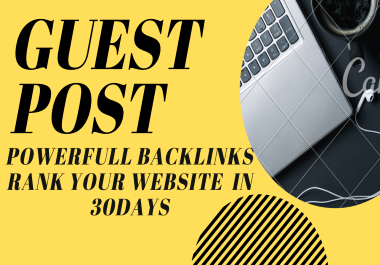 Get 4 guest post unique and real sites