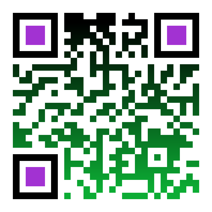 Professional qr codes with company logos and multiple colours.