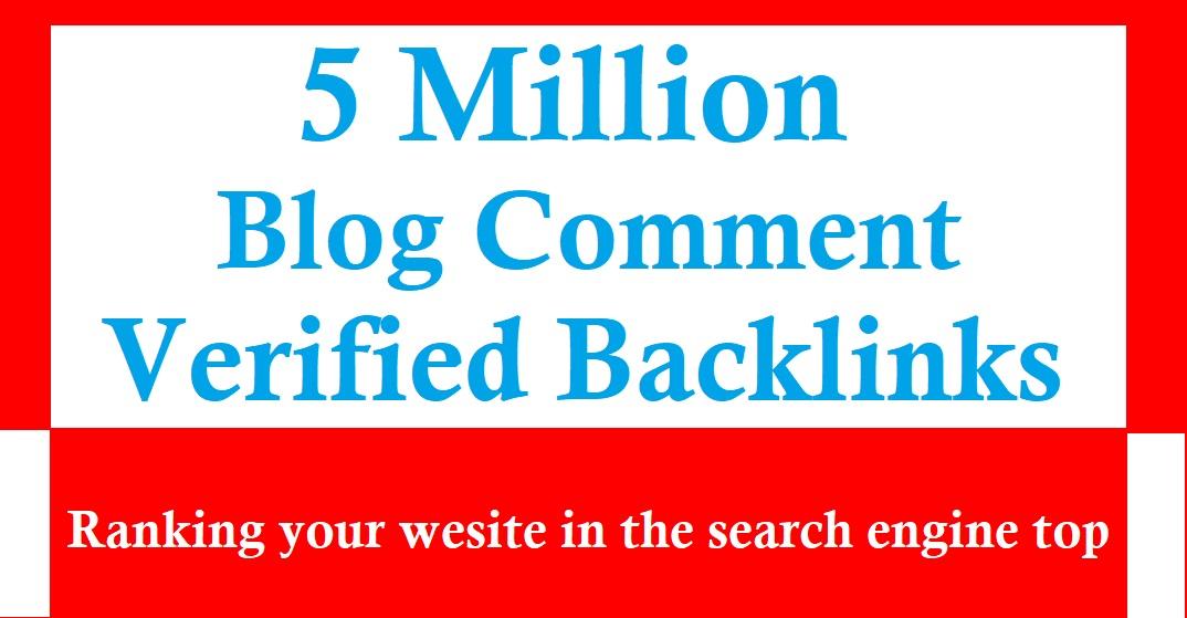 I will do 5 million blog comment backlinks for website ranking