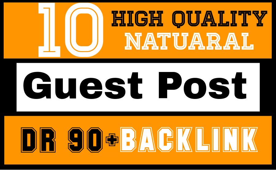 I will write and publish unique 10 high da pa guest post