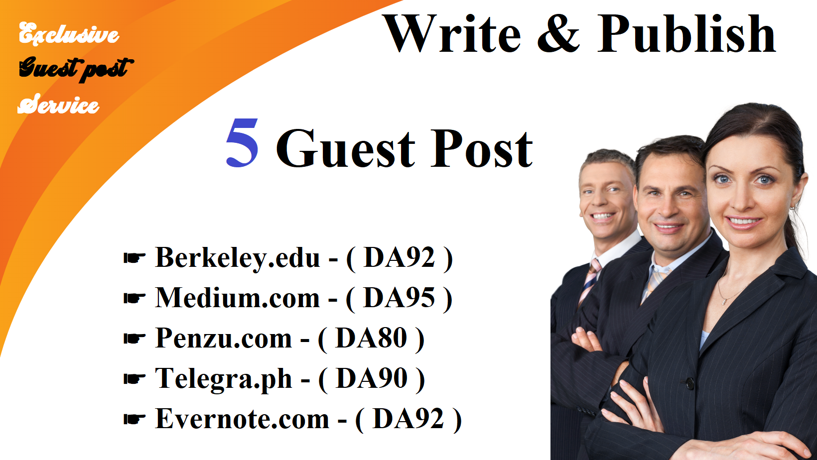 Write And Publish 5X Guest Posts On DA 80+ Sites