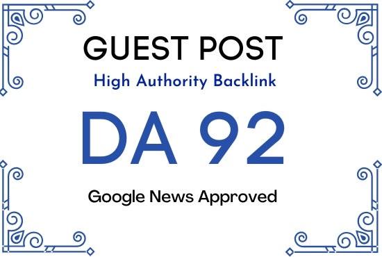 publish guest post on da 92 google news site dofollow link