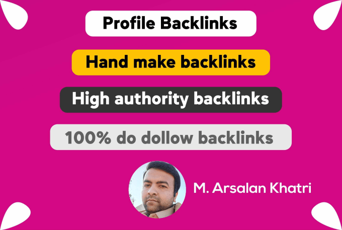 I will manually create 50 high authority profile backlinks off page SEO