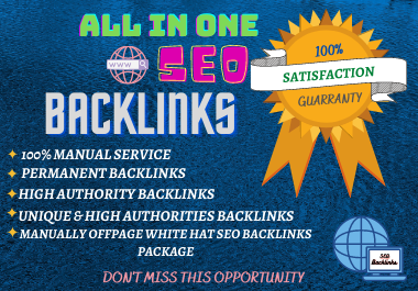 I Will Provide Manually Off page White hat 120 SEO Backlinks package to Boost Your Website