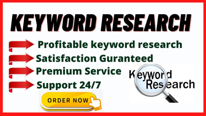 I I will do best keyword research and competitor analysis