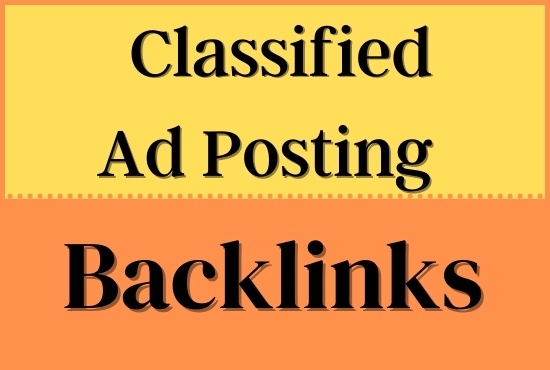 I will do manually publish 50 ads in High quality classified ad posting Sites