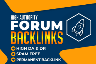 I will provide 100 forum backlinks high authority posting