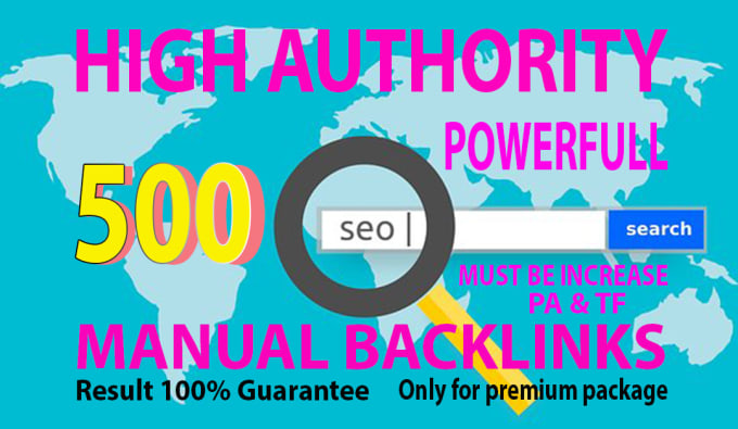 I will do 500 authority trusted white hat seo backlinks link building service.