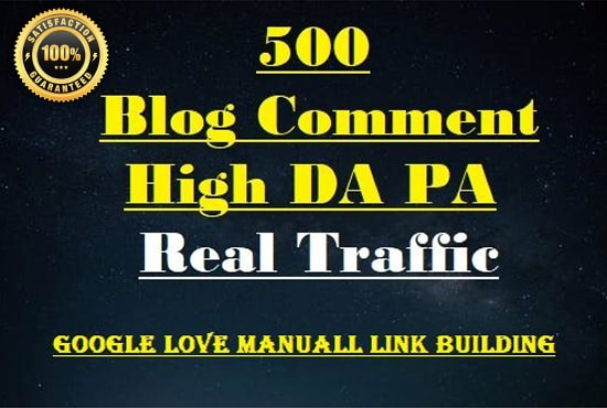 I will do 1000 plus high da pa dofollow blog comments backlinks