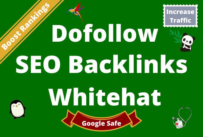 I will high quality do follow 100 SEO backlinks da 50 plus white hat link building