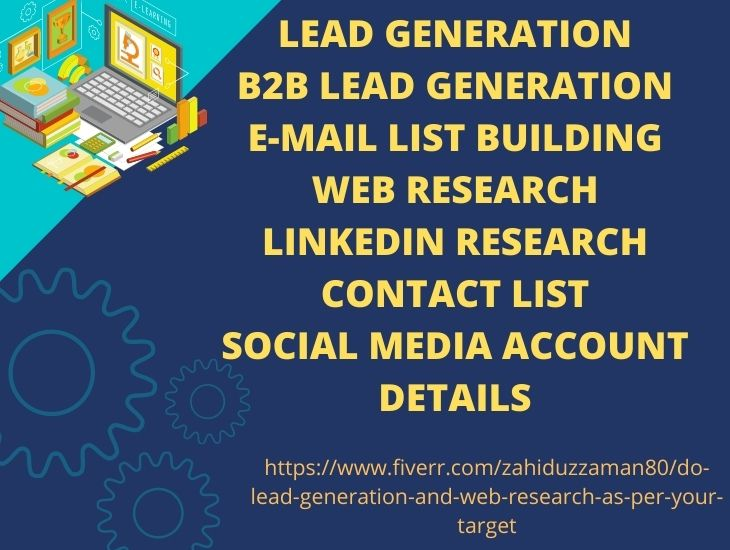 I will do lead generation and web research as per your target