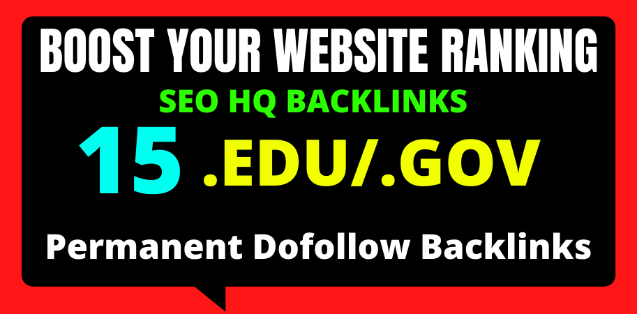 I will create 15 Edu/Gov high quality off page seo backlinks 2021