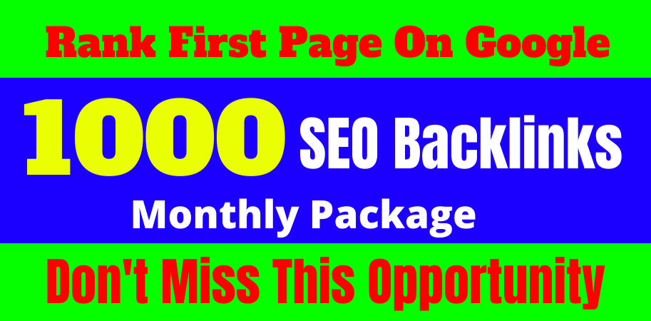 Rank Your Website on Google,  30 Days All In One 1000 Off-Page SEO Backlinks Provide Manually