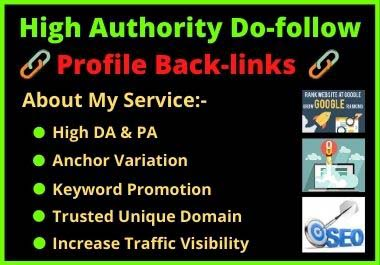 I will Create 250 Do-Follow SEO Profile Backlinks Services